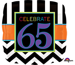 65 th Birthday Celebration Mylar Balloon