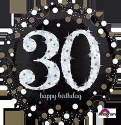 32129 30 th Sparkling Birthday Mylar Balloon