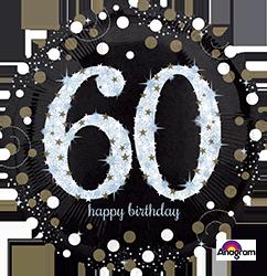 65 th Sparkling Birthday Mylar Balloon