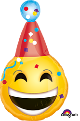 33629 B-Day Emoticons Mylar Balloon