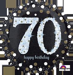 70 th Sparkling Birthday Mylar Balloon