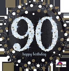 90 th Sparkling Birthday Mylar Balloon