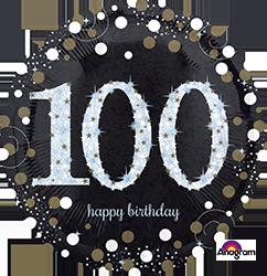 100 th Sparkling Birthday Mylar Balloon
