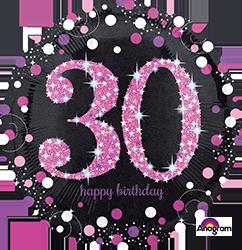 30 th Pink Celebration Mylar Balloon