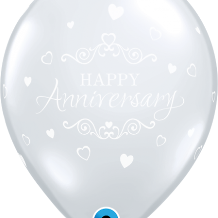 19375 Anniversary Classic Hearts latex balloon