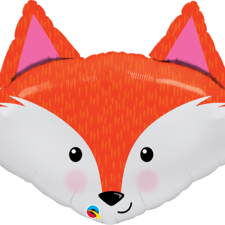Fabulous Fox Mylar Balloon