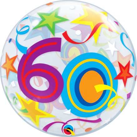 60th Brilliant Stars Bubble Balloon