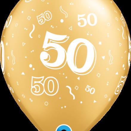 37107 #50 gold latex balloon