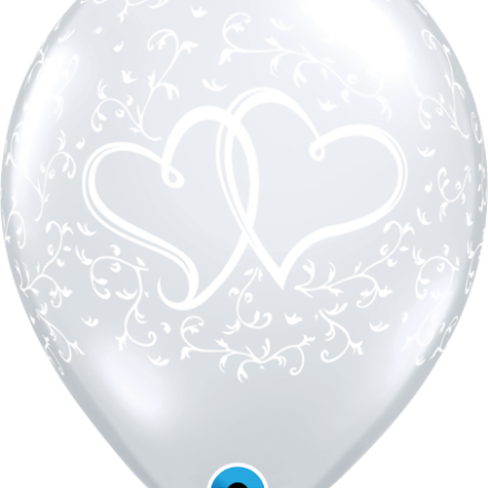 37200 Entwined Hearts Clear latex balloon