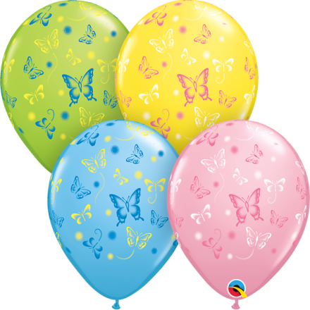 38428 Butterflies latex balloon