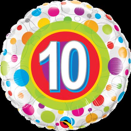 #10 Colorful Dots Mylar Balloon