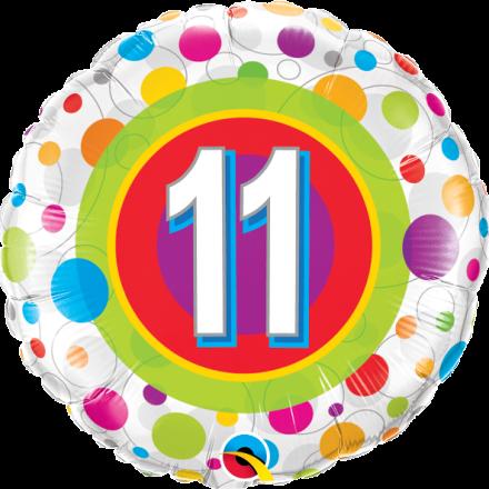 41124 #11 Colorful Dots Mylar Balloon