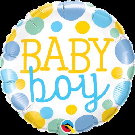 Baby Boy Dots Mylar Balloon