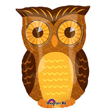"Owl Jr Shape 13"" x 18"" Mylar Balloon"