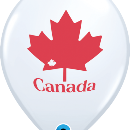20256 Patriotic Maple Leaf latex balloon