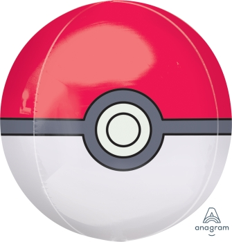 "Pokeball 15"" x 16"" Orbz Balloon"