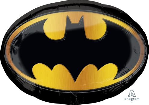 """29657 Batman Emblem 27"""" x 19"""" Mylar Balloon"""