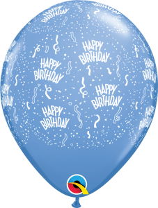 302184 Periwinkle Birthday A Round latex balloon