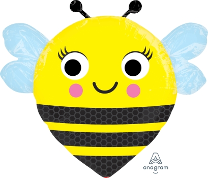 "happy-buzz`n-bee 22"" x 21"" Mylar Balloon"