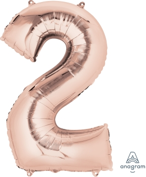 "36212 #2 Rose Gold 33""Mylar Balloon"