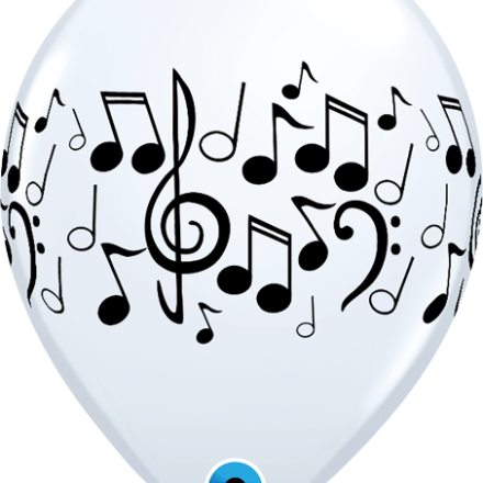 37068 Music Notes latex balloon