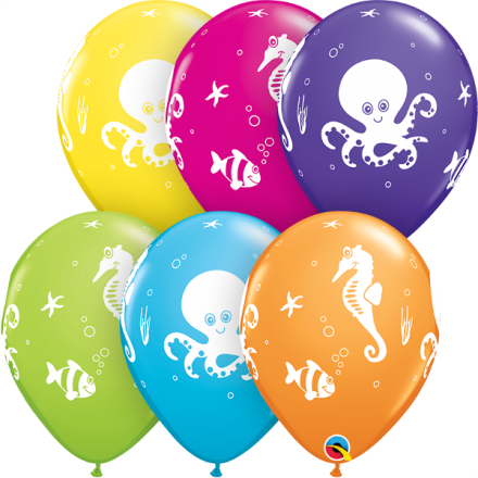 37502 Fun Sea Creatures latex balloon