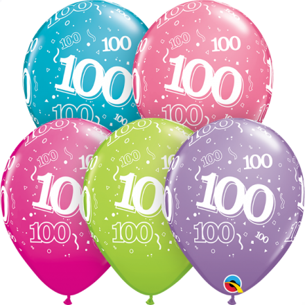 46708 #100 trendy assortment latex balloon