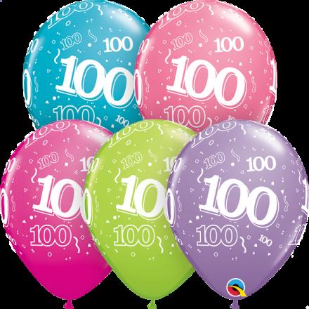 46708 #100 trendy assortment latex balloon