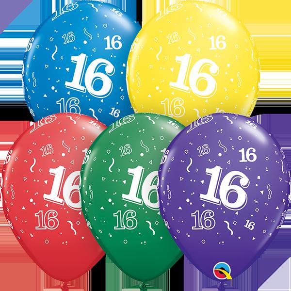 53905 #16 std assortment latex balloon