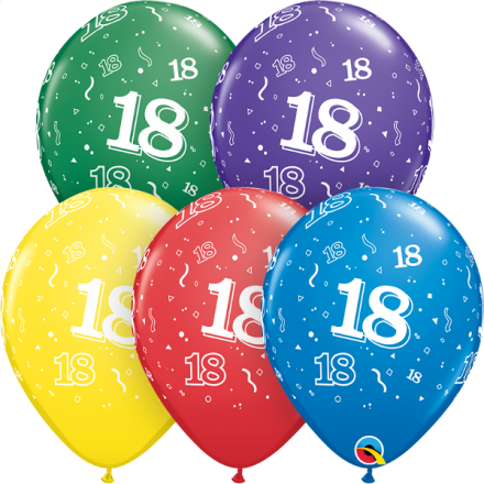 53907 #18 std assortment latex balloon