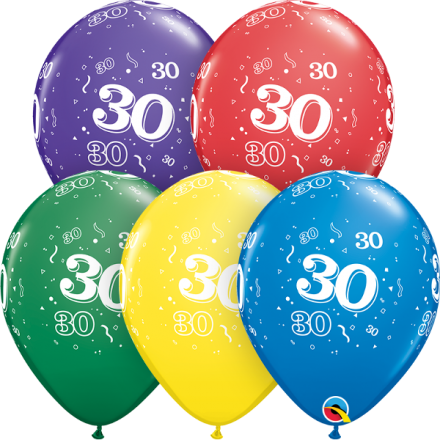 53913 #30 std assortment latex balloon