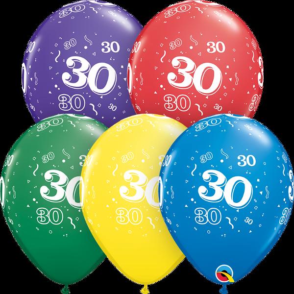53913 #30 std assortment latex balloon