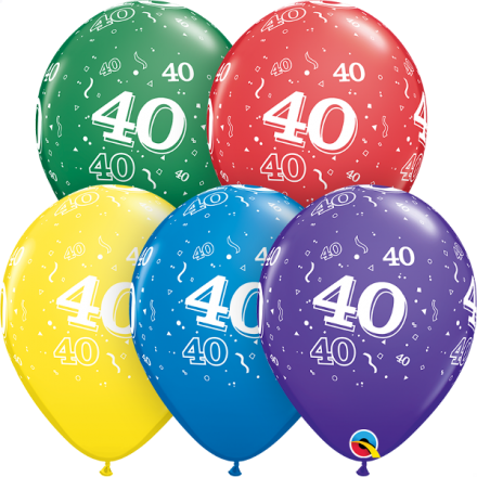 53921 #40 std assortment latex balloon