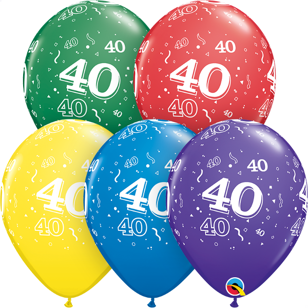 53921 #40 std assortment latex balloon