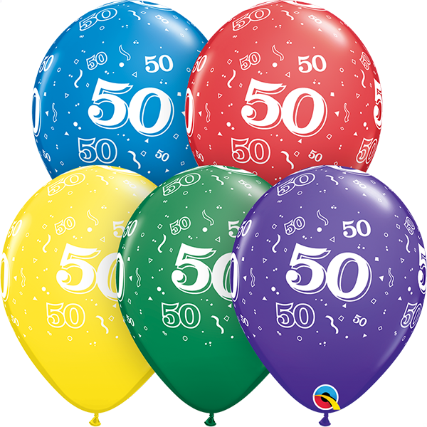 53923 #50 std assortment latex balloon