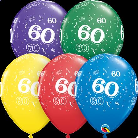 53925 #60 std assortment latex balloon
