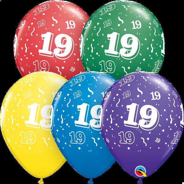 53964 #19 std assortment latex balloon