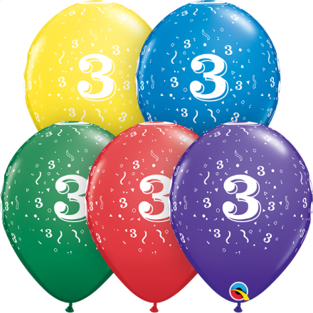 53986 #3 std assortment latex balloons