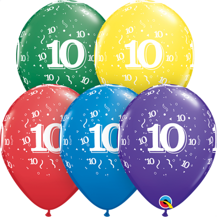 54020 #10 std assortment latex balloon