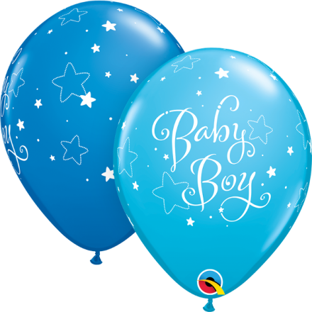 55926 Baby Boy Stars latex balloon