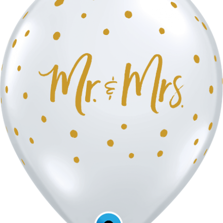 57641 Mrs. & Mr. Dots latex balloon