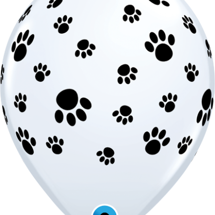 76892 Paw Prints-A-Round latex balloon