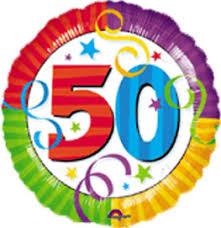 50 th Birthday Mylar Balloon