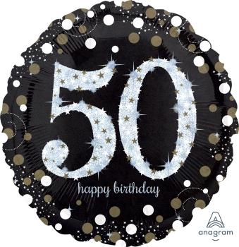 "50 th Sparkling Birthday 28"" Mylar Balloon"