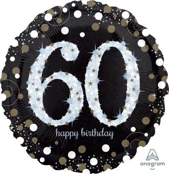 "60 th Sparkling Birthday 28"" Mylar Balloon"