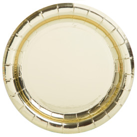"""Gold 7"""" Paper Plate 8 pk"""