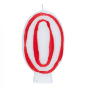 """#0 Red & White 2.5"""" Candle"""