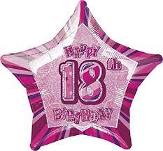18th Birthday Pink Mylar Balloon
