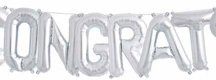 "Congrats Letters Air Fill 16"" Mylar Balloon"